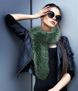 Luxurious Faux Fox Fur Scarf